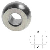 Plain Ball Swage - Stainless Steel Type 316 - 3/64