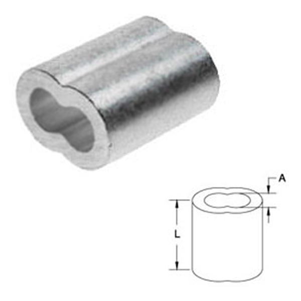 Quot aluminum sleeve for wire rope assemblies