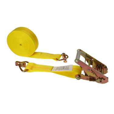 30' Yellow Ratchet Strap w/ Double Stud Fittings On Both Ends