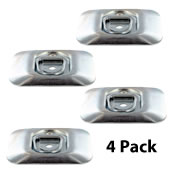(4 pack) Surface Mount Zinc Plated Rope Ring Tie Down image