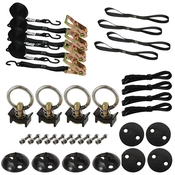 4 Point Tie Down Anchor Kit - Black image
