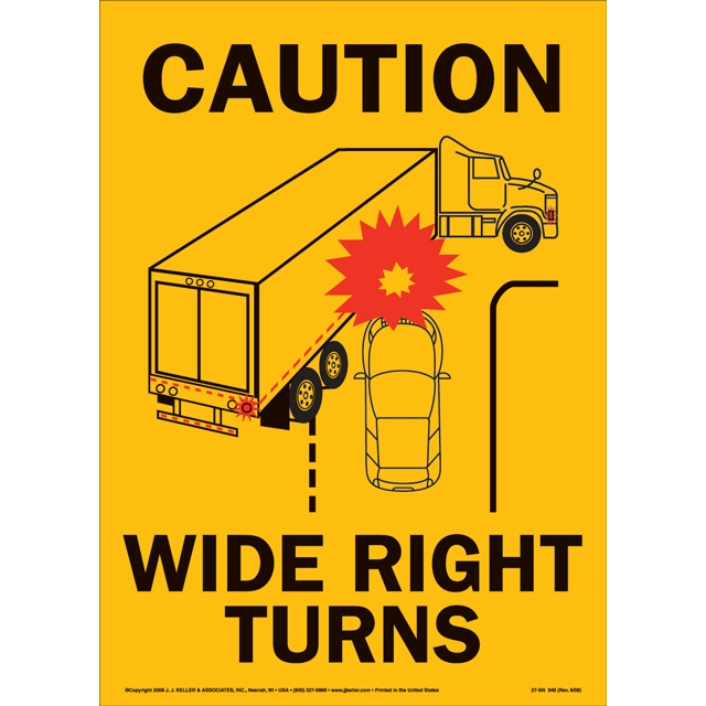 Caution Wide Turns