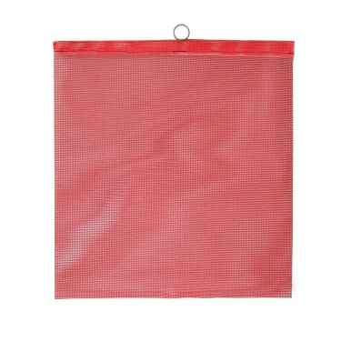 Red Mesh Safety Flag w/ wire rod: 18