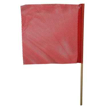 Red Jersey Mesh Safety Flag w/ 32
