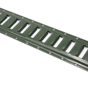 5' Horizontal E Track - Green Painted image