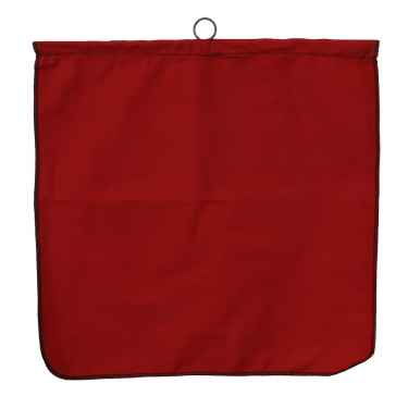 Red Safety Flag w/ Wire Rod: Poly/Cotton 18