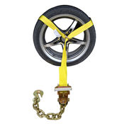 Side Mount Wheel Net with Ratchet and Chain Extension image