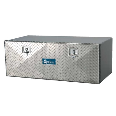 Diamond Plate Single Door Aluminum Tool Box - 24