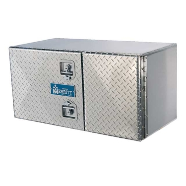 Diamond Plate Double Door Aluminum Tool Box - 24