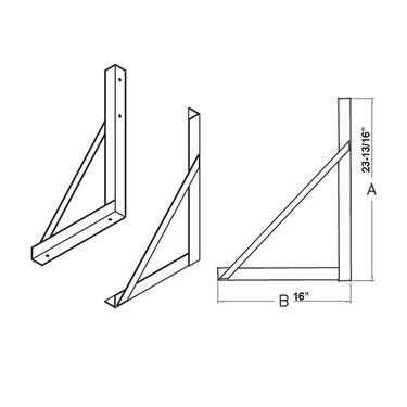 Zinc Plated Steel Mounting Brackets for 18