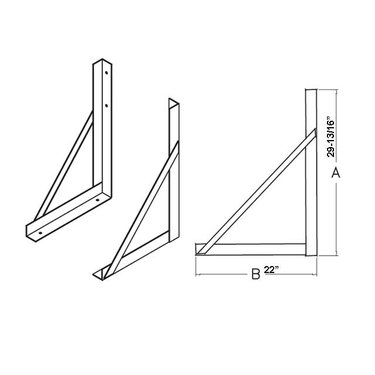 Zinc Plated Steel Mounting Brackets for 24