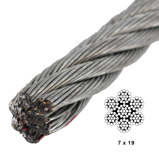 7x19 Galvanized Steel Cable - Aircraft Cable