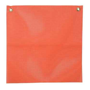 Orange Vinyl Coated Mesh Safety Replacement Flag: 18