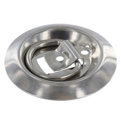 Flush Mount Stainless D Rings - Recessed Stainless Steel Rope Ring image