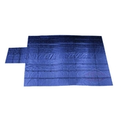 Heavy Duty Lumber Tarp - 24' x 27' (8' Drop & Flap) - 18 oz. Blue Tarp image