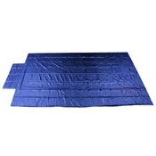 Heavy Duty Lumber Tarp - 16' x 27' (4' Drop & Flap) - 18 oz. Blue Tarp image