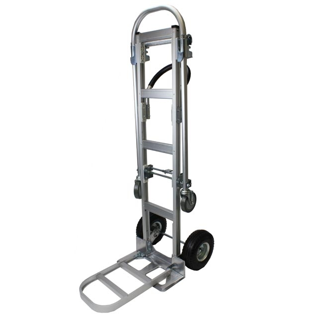 Extendable Hand Truck : Aluminum convertible hand truck with extension nose plate