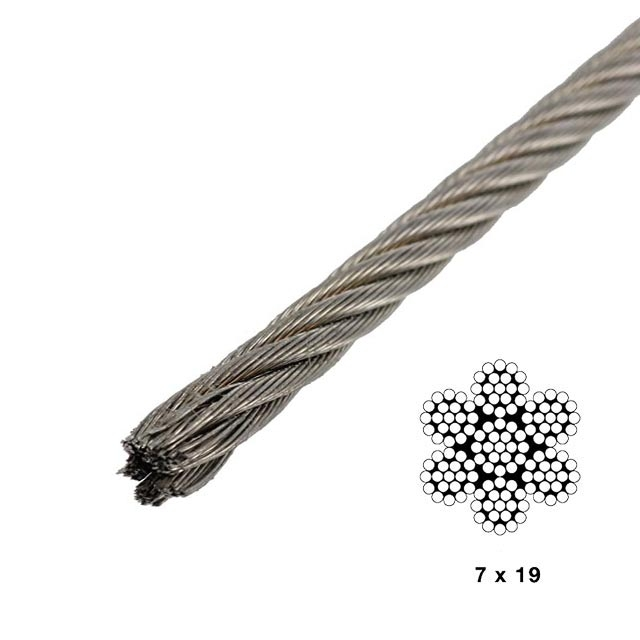 5 32 Quot 7x19 Type 304 Stainless Steel Wire By Linear Foot