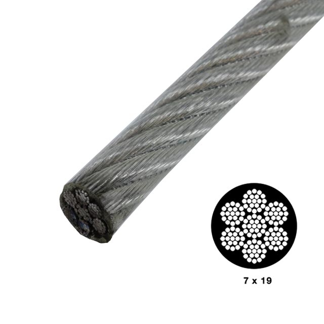 3 8 Steel Cable : Quot vinyl coated galvanized wire by linear foot