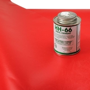 Tarp Repair Kit: 2'x2' Red Tarp Patch and Vinyl Cement image