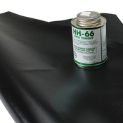 Tarp Repair Kit: 2'x2' Black Tarp Patch and Vinyl Cement image