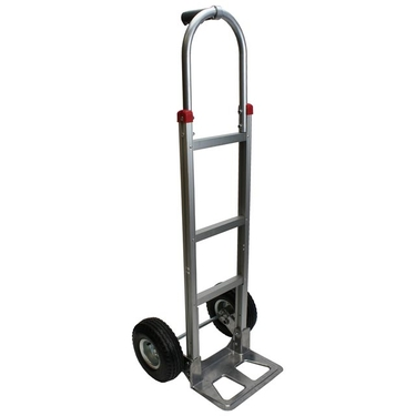 Aluminum Hand Truck w/ Pneumatic Wheels & Pin Handle