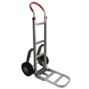 Aluminum Hand Truck with Foam Fill Tires and Stair Climbers