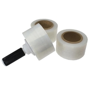 3 Rolls of Stretch Wrap w/Dispenser Handle image