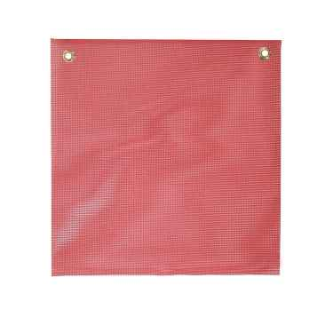 Red Vinyl-Coated Mesh Safety Replacement Flag: 18