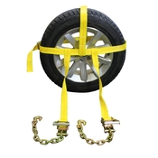 Side Mount Wheel Net W/ Cam Buckle & 2 Ratchets and Chain Extensions image