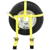 Side Mount Wheel Net with Cam Buckle & 2 Ratchets and Flat Hooks image