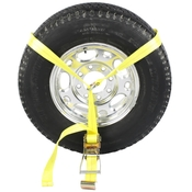 Side Mount Wheel Net with Ratchet and Flat Hook image