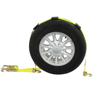 Wheel Strap with Swivel Hooks and Adjustable Rubber Blocks