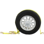 Race Car Tie Down Strap with Wire Hooks & Ratchet image