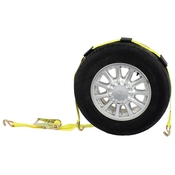 Wheel Strap with Wire Hooks & Adjustable Rubber Blocks & Ratchet image
