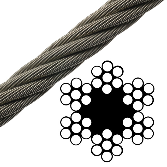 Bright Wire Rope FC - 6 x 7 Class - 3/8\