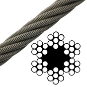 Bright Wire Rope FC - 6 x 7 Class - 5/8