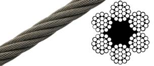 6x19 EIPS Fiber Core Wire Rope - Flexible Cables