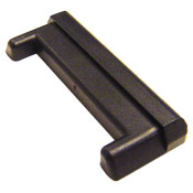 Plastic End Cap for Horizontal E-Track - Black Plastic