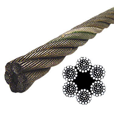 Bright Wire Rope EIPS FC - 6x37 Class - 1/2