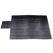 Heavy Duty Lumber Tarp - 24' x 27' (8' Drop & Flap) - 18oz Black Tarp image