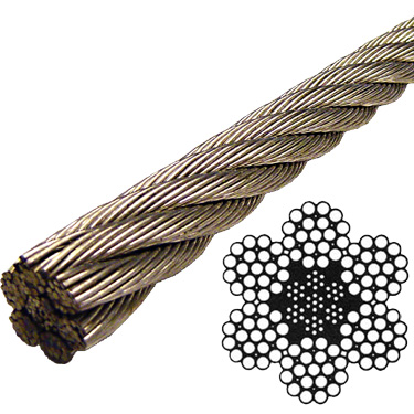 Stainless Steel Wire Rope 304 - 6x19 Class - 7/16