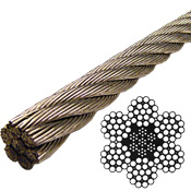 Stainless Steel Wire Rope 304 - 6x19 Class - 5/8