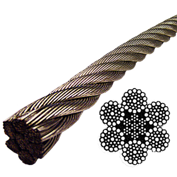 Stainless Steel Wire Rope 304 - 6x37 Class - 1/2\