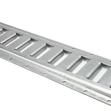 2' Horizontal Galvanized E Track (Box of 4)