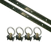 6 Piece 4' L Track Tie Down System- Olive image