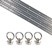 8 Piece 4' L Track Tie Down System- Aluminum image