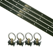 8 Piece 4' L Track Tie Down System- Olive image