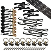 6' Tie Down Kit for 2 Motorcycles - Black image