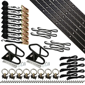 8' Double Tie Down System w/ Wheel Chock - Black image